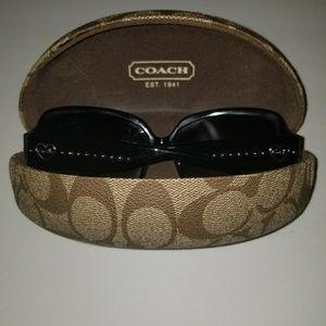 Coach sunglasses with heart emblem